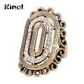 Einzigartige Kristall Vintage Ringe Für Frauen Farbe Gold Klassische Muster Wählbar Ring Kollokation Sets Zubehör