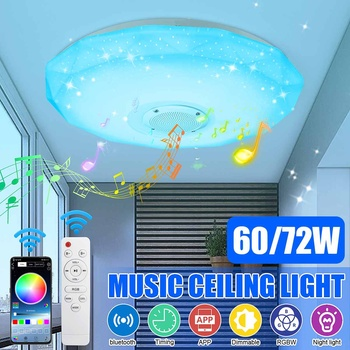 60W 72W Modern LED Ceiling Lights RGB Home lighting APP bluetooth Music Light Bedroom Lamps Smart Ceiling Lamp+Remote Control