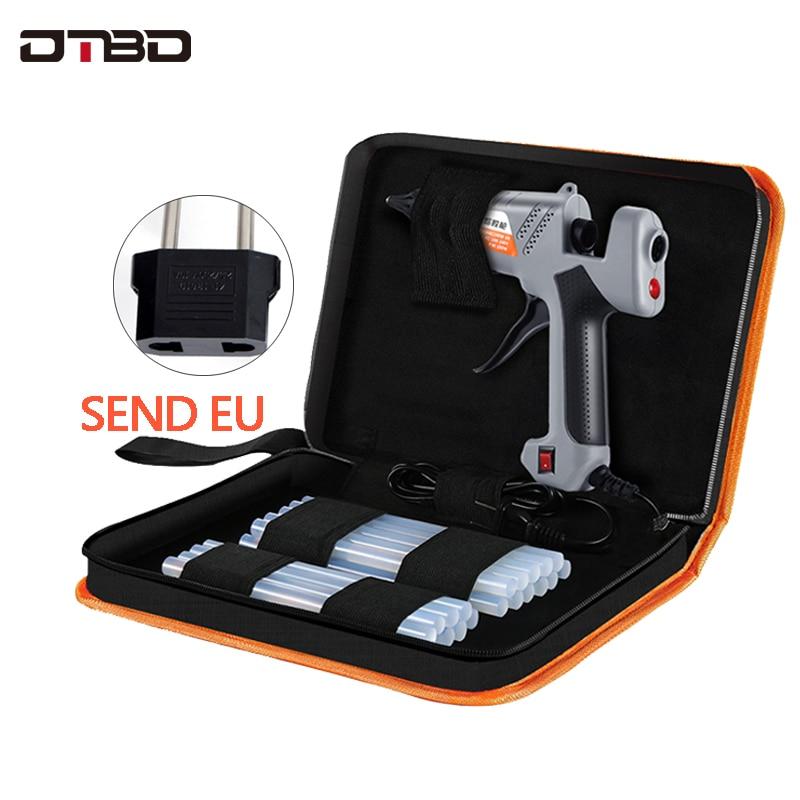 200W 100-240(V) EU Plug Hot Melt Glue Gun With 11mm Glue Stick Industrial Guns Thermo Electric Heat Temperature Tool