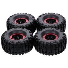 4 pçs 135mm 2.2 Polegada roda de pneu inflável de borracha da borda para o carro rc traxxas hsp redcat rc4wd tamiya axial scx10 d90 rc esteira rolante