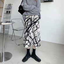 Женская трикотажная юбка трапеция повседневная универсальная