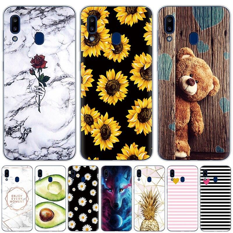 Case For Samsung Galaxy A20 A20E Cases Cover Marble Silicon Shells For Samsung A20 A 20 2019 A205F A20E A202F Soft Fundas Bumper