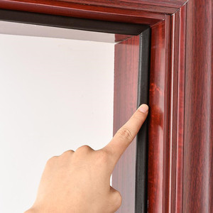 Image 1 - 5 M Pu Foam Sound Proof Door Strip Acoustic Foam Self Adhesive V Type Sealing Strip Weather Stripping Door Window Seal Strip