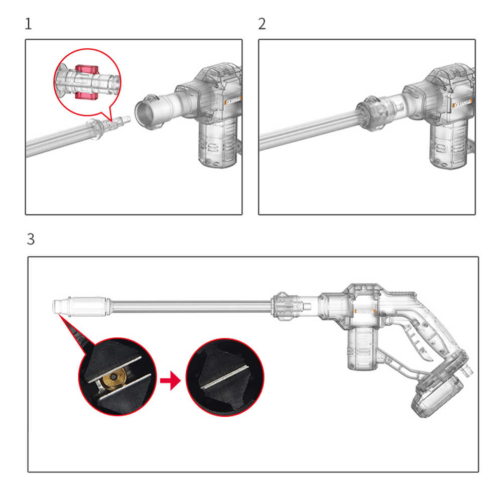 Draagbare Draadloze Multifunctionele Draadloze Hogedrukreiniger Wasmachine Water Hose Nozzle Pomp met Batterij