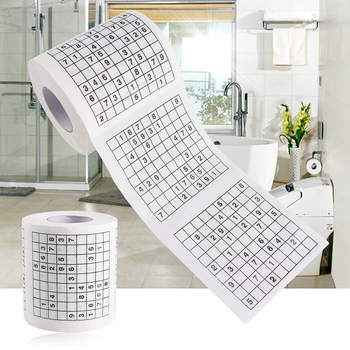1 Roll 2 Ply Number Sudoku Printed WC Bath Funny Toilet Paper Tissue Bathroom Supplies Gift 1