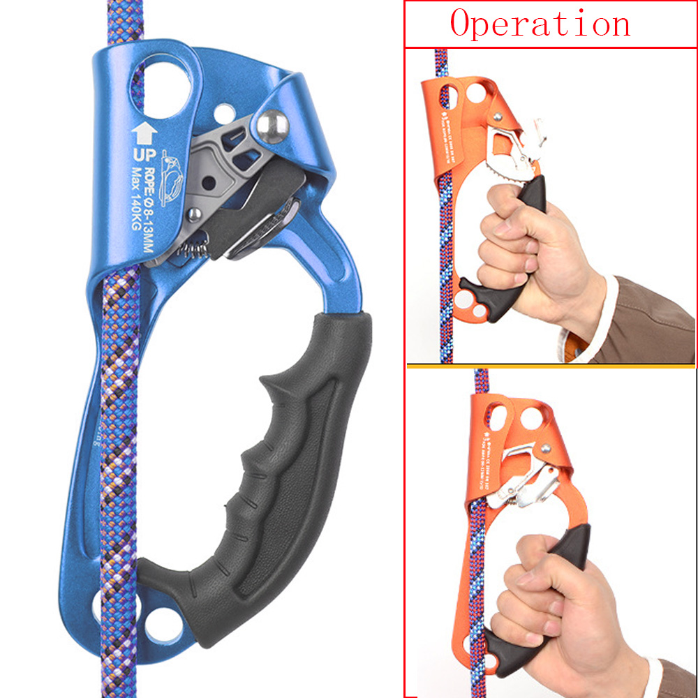 Equipamentos para 8-12 Arborist Escalada Montanhismo Rapel Ascendente Mão Dispositivo Engrenagem Braçadeira Corda Três Milímetros