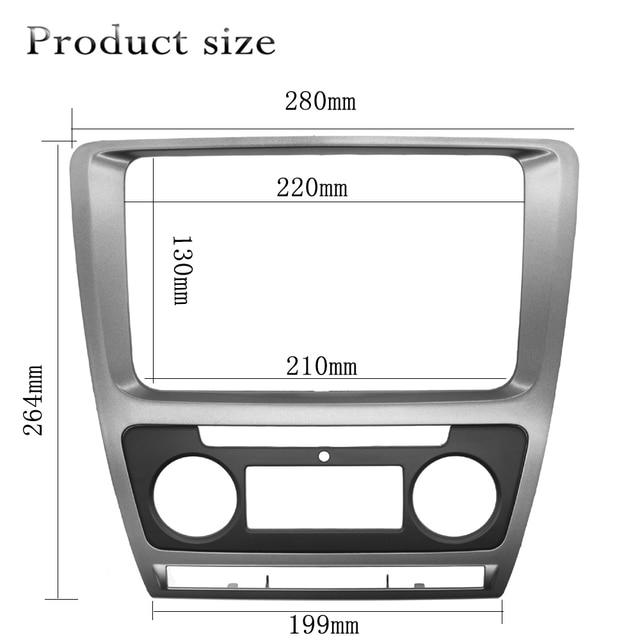 2 Din Radio Frame konsola do Skoda Octavia 2010 ~ 2013 samochodowy sprzęt Audio Stereo DVD Panel montaż zestaw na deskę rozdzielczą montaż montażowy