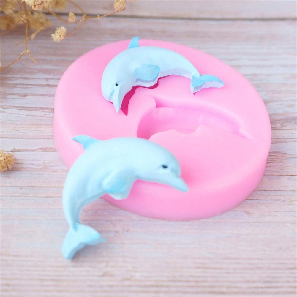 Дельфины морской Океанский животные оболочки помадка форма для торта декоративная шоколадная жидкость, силиконовая форма кухонные принадлежности для выпечки формы Формы для тортов      АлиЭкспресс