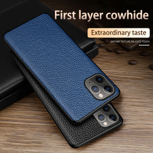Phone Case For iPhone 11 Pro Max Case Cowhide Litchi Texture Genuine Leather For Apple X XS Max XR 9 8 7 6 6S Plus Cover genuine leather phone case for iphone 11 pro cases litchi texture for apple x xs max xr 6 6s 7 8 plus se 2 cowhide cover funda
