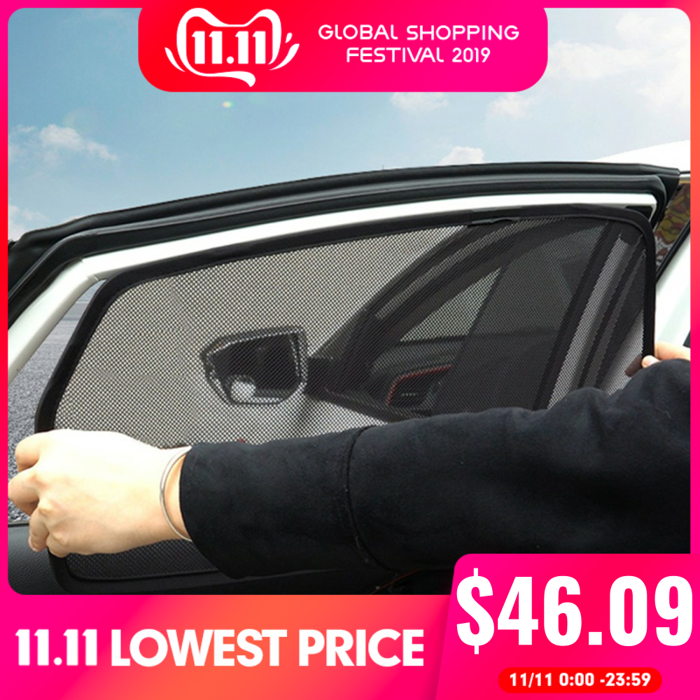 Magnetic Front Rear Sun Shade Side Window Sunshades For Toyota Corolla 2009 2010 Window Curtain Visor For Corolla 2011 2012 2013