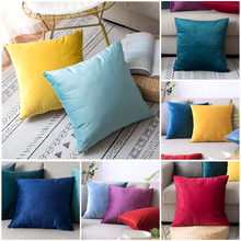 pillowcase velvet cushion cover for living room sofa cushion set solid color pillowcase Cushion Cover Pillow Cover диванная подушка cushion cover pillowcase 45 45 01 page 4