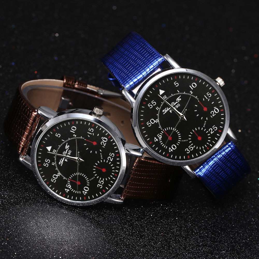 High Quality Quartz Watch Men's Leather Strap Korean Version Of The Male Student Watch Hot Sale Watch Christmas Gift