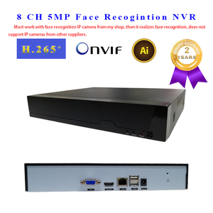 Gezichtsherkenning NVR 8 CH P2P IP Video Recorder Ondersteunt H.265 264 Onvif 1HDMI + 1VGA Smart Video Analyze voor IP Camera CCTV NVR