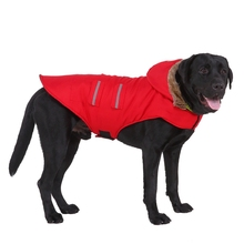 Dog Winter Clothes For Large Dogs Warm Big Waterproof Jackets Padded Fleece Pet Coat Safety Reflective Clothing