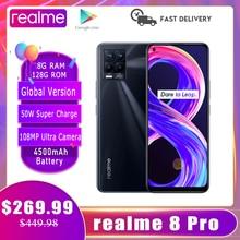Realme 8 Pro wersja globalna 8GB 128GB Smartphone NFC 108MP Ultra Quad Camera 6.4
