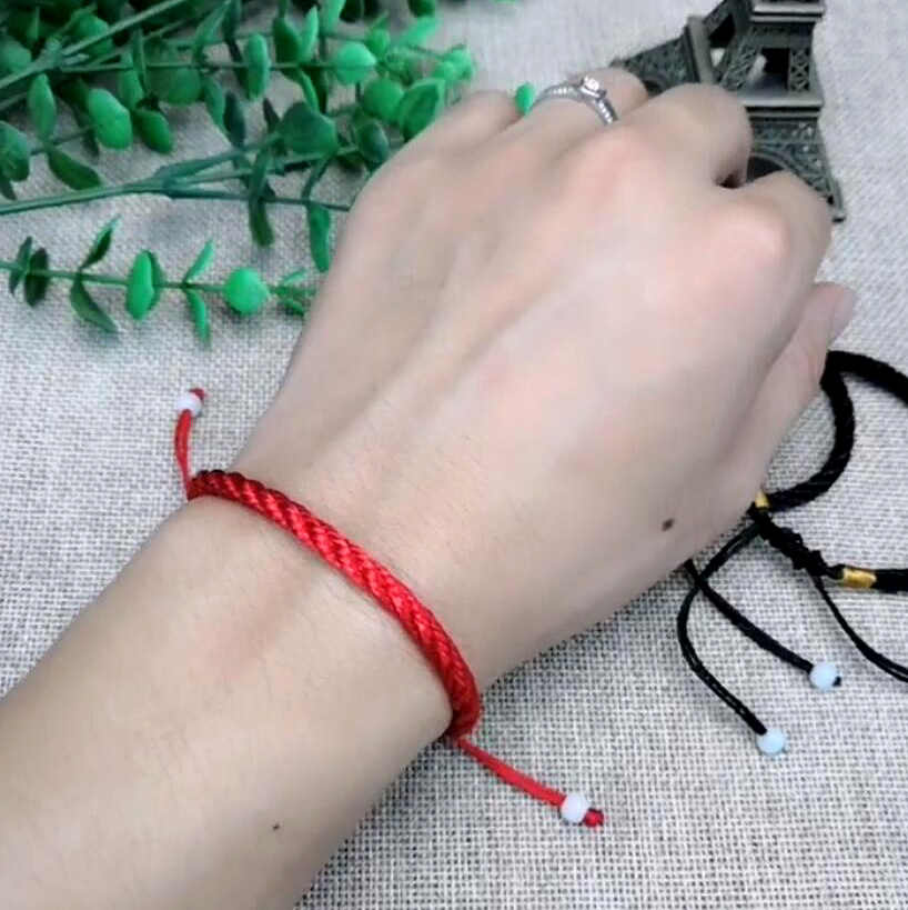 Women Lucky Bracelets Bead Red String Bracelets & Bangles Men Adjustable Handmade Accessories Lovers Lucky Jewelry