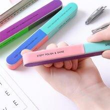1PCS Colorido Lustre para Unhas Profissional Seis-sided Lixa de Polimento Lixa de Unhas Manicure Lixa de Unhas Lixar Beleza Manicure ferramentas