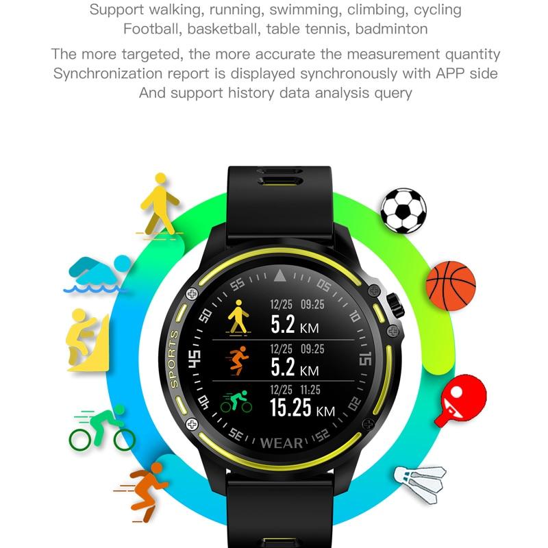 Image 5 - L8 Smart Watch Men IP68 Waterproof Reloj Hombre Mode SmartWatch  with Blood Pressure Watches Sports Fitness Heart Rate Watch ManSmart  Watches