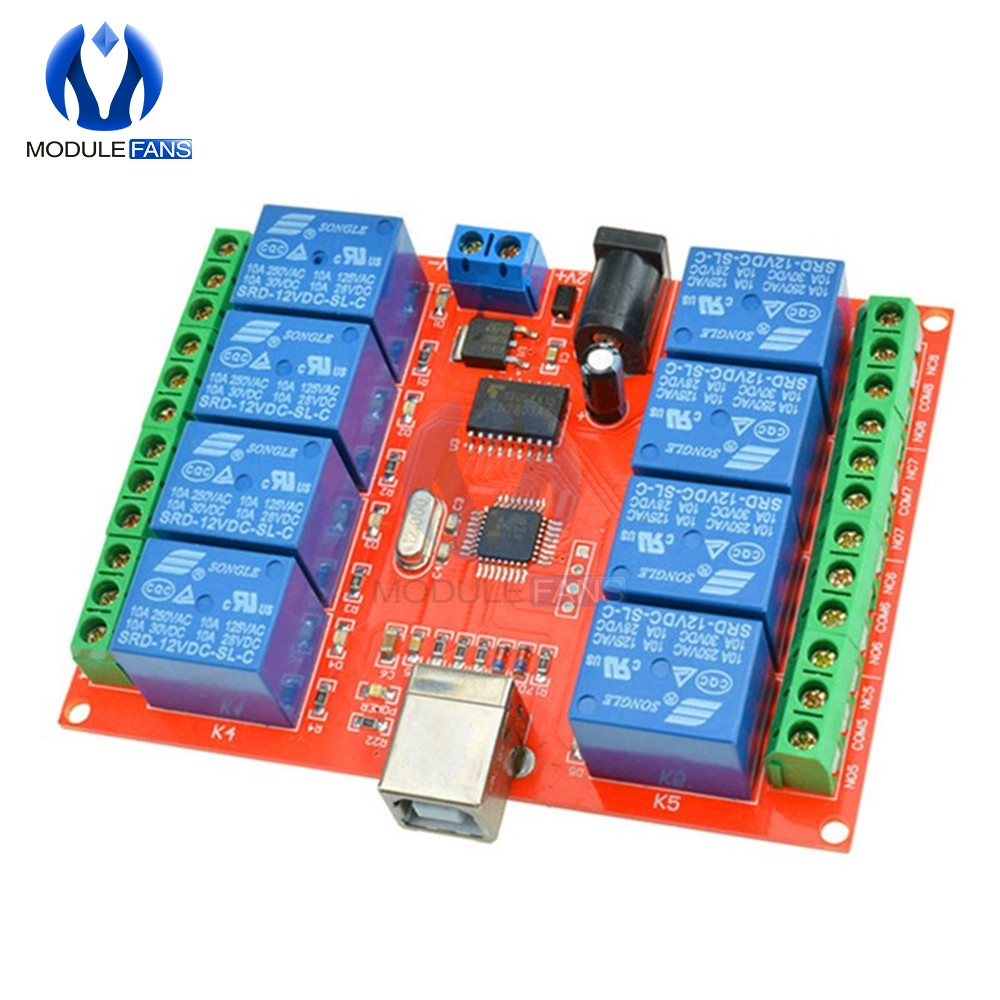1 2 4 8 Channel USB Relay Control Switch Computer Control for Intelligent Home