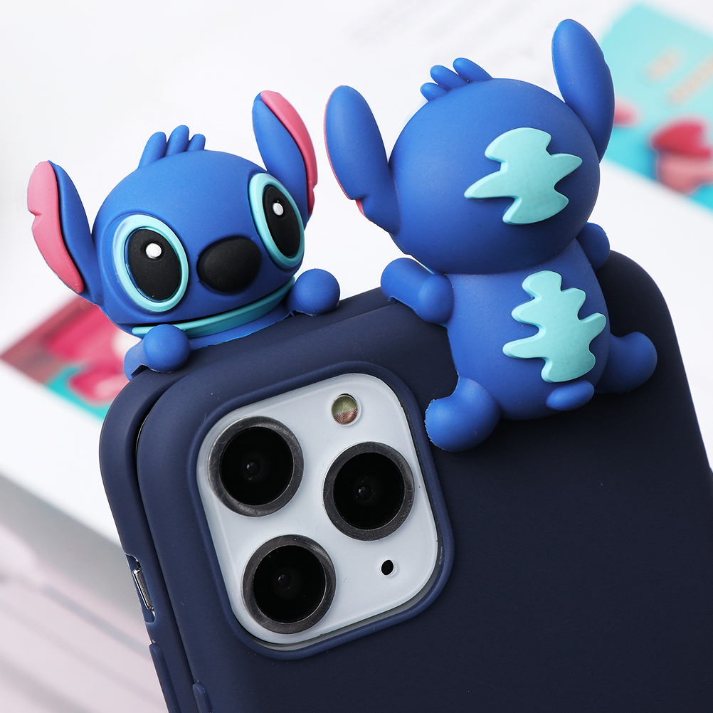 Cute Cartoon Print Design Made Of Soft TPU Material Standing Case For iPhone Mobiles
