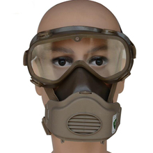 Full Face Respirator with Goggles Organic Vapor Safety Full Facepiece Face Cover for Welding, Cleaning, Painting, Construction