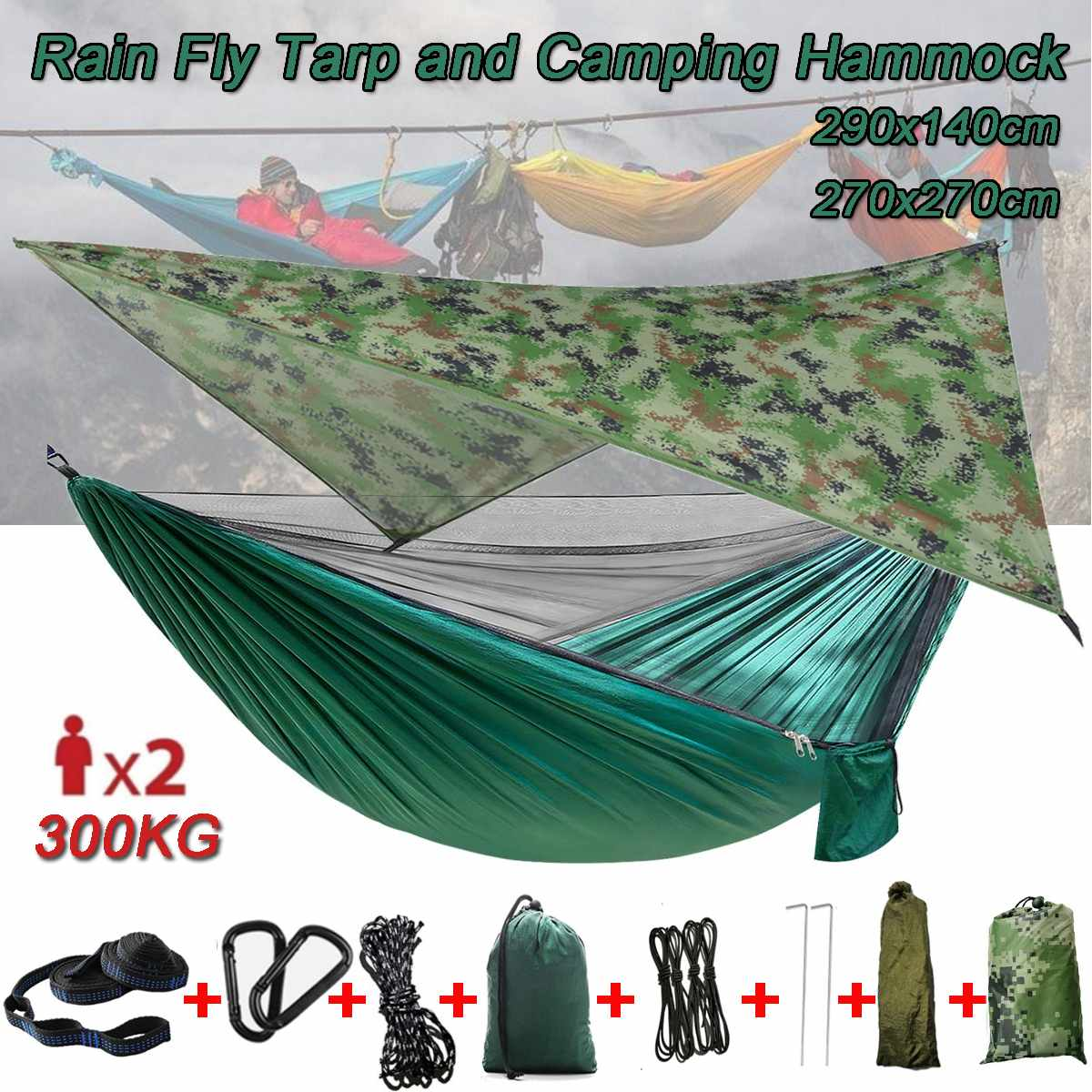 300KG Hammock Outdoor Garden Camping Hanging Chair For Child Adult Swinging Double Safety Chair