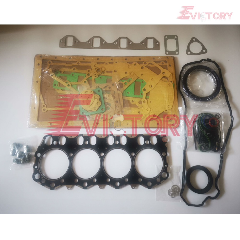 For <font><b>Mitsubishi</b></font> D04FR engine overhaul compelete gasket kit + cylinder head gasket image