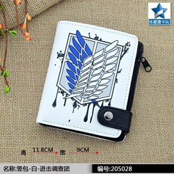 Anime Attaclk On Titan Wallet Wings of Liberty PU Short Coin Purse