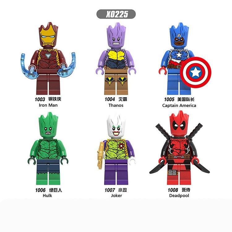 X0225 Marvel series children's educational building blocks toys outside Deadpool, Grut