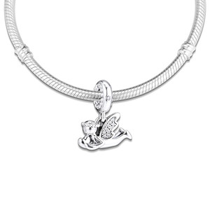 Image 4 - Clear CZ Angel of Love Dangle New 2019 Winter Collection 925 Sterling Silver Charms for Bracelets & Bangles DIY Jewelry Making