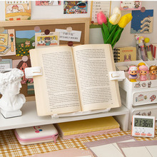Portable Bookend Book Holder Stand Support for Reading Book Rack Folding Notebook Holder Organizer for Music Score Recipe Tablet