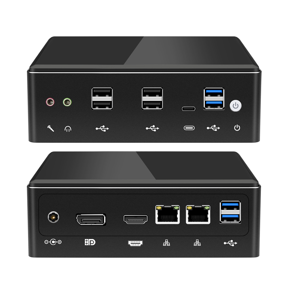 Mini PC Intel Core I7 7500U 8650U Computer Windows 10 2*DDR4 M.2 SSD 8*USB DP Type-C 2*LAN WiFi 4K HTPC Micro Desktop NUC Minipc