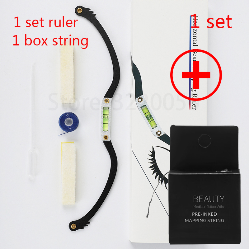Microblading Bow Arrow Line Ruler Brow Mapping String Permanent Makeup Mapping Thread Tattoo Accesories Eyebrow Mapping Kit