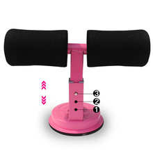 Sit-Up Bar with Suction Cup Padded Cushion Floor Fitness Bar Abs Trainer Workout Equipment for Home Work