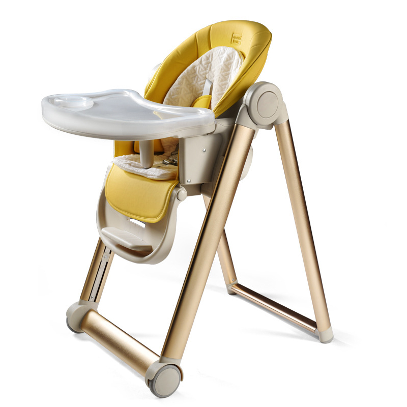 Baby Heightening Dining Chair, Children's Eating Seat, Multifunctional Foldable Portable Baby Table and Stool Learning Chair