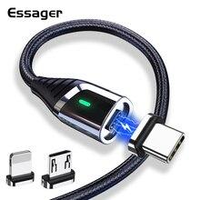 Essager magnético micro cabo usb para iphone 12 xiaomi mi 3a carregamento rápido usb tipo c carregador de ímã usbc tipo c cabo de fio de dados