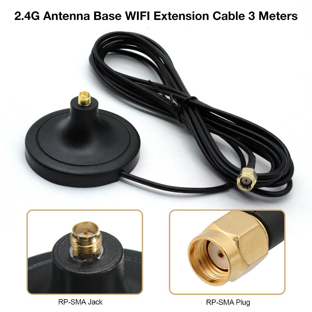 2.4G Antenna Base WIFI Extension Cable SMAJK Male To Female Interface 3G 4G Antenna Carrier Extender/WiFi RP-SMA Magnetic Base