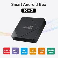 Mecool KH3 안드로이드 박스 2 기가 바이트 16 기가 바이트 안드로이드 10.0 Allwinner H313 쿼드 코어 2.4G 와이파이 100M LAN HDR 3D 스마트 TV 박스 홈 영화
