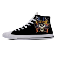 2019 Hot New Brand T Shirt Men Guns N Roses Bullet Logo Black Men's Lightweight eathable Canvas Shoes Leisure shoes