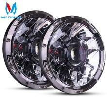 MICTUNING 7 Cal Upgrade LED reflektor samochodowy z światło laserowe wiązka 6000K Hyperspot Combo światło dla pojazdu motocykl łódź RV
