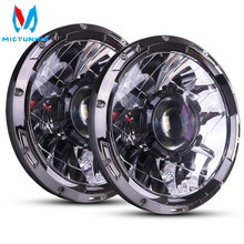 Mictuning 7 インチのアップグレード led 駆動ヘッドライトレーザー光ビーム 6000 18k hyperspot コンボ用自動車オートバイボート rv