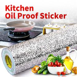 Meijuner Oilproof Waterproof Stickers Aluminum Foil for Kitchen Stove Cabinet Multi-Size Self Adhesive Wall Paster DIY Wallpaper