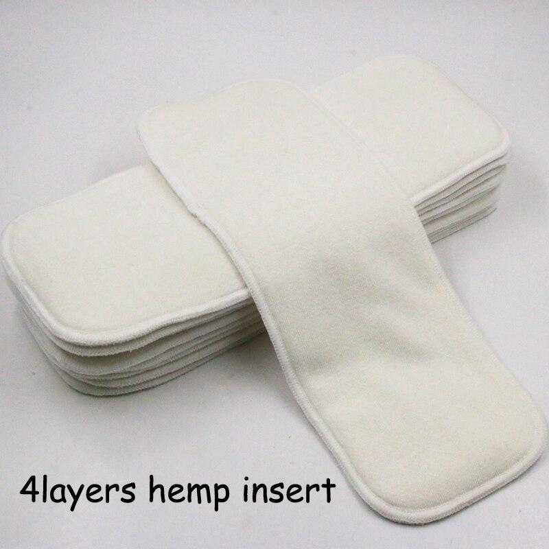 Pororo Новое поступление, 4-слойный органический подгузник, многоразовый тканевый подгузник, супер впитывающий пеньковый подгузник, вставки д...
