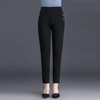 Letnie spodnie dla kobiet 2020 moda cienkie kostki ołówkowe spodnie wysokiej talii elastyczność Solid color lady leisure spodnie sztruksowe tanie i dobre opinie TF·MLN COTTON SILK Kaszmirowy Kostki długości spodnie PDD10 Stałe Na co dzień Ołówek spodnie Mieszkanie REGULAR Wieku 16-28 lat