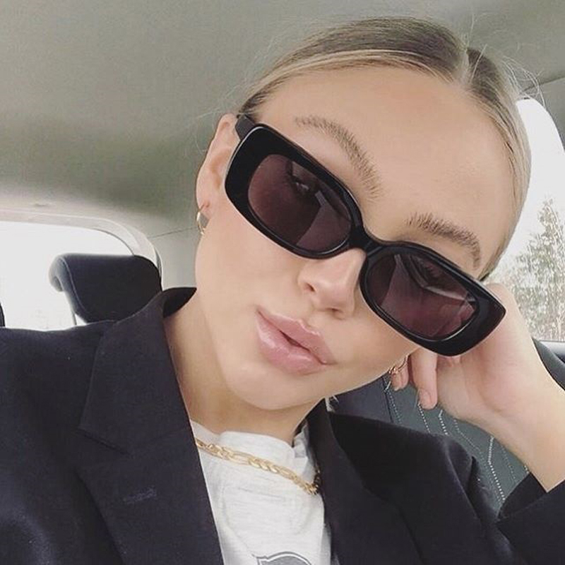 2021 Square Sunglasses Women Luxury Brand Travel Small Rectangle Sun Glasses Female Vintage Retro Oculos Lunette De Soleil Femme