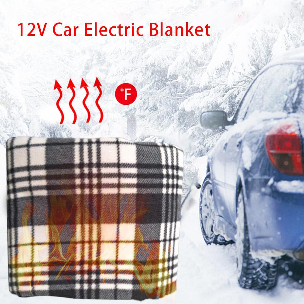 Car Heating Blanket Winter Heated 12V Lattice Energy Saving Warm Auto Electrical Blanket For Car Constant Temperature 150*110cm