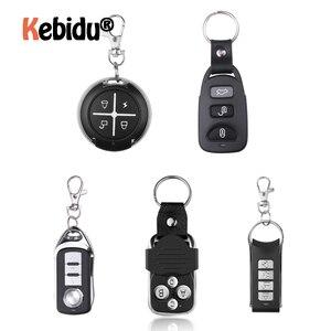 Image 1 - Garage Gate Door 433MHZ Remote Control Key Ring Auto Pair Copy Remote Garage Door Opener Remote Controller Duplicator Universal
