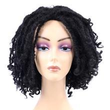 Dreadlock Wig Black Women Short Curly-Ends Natural for Goddess Locs Crochet Braids