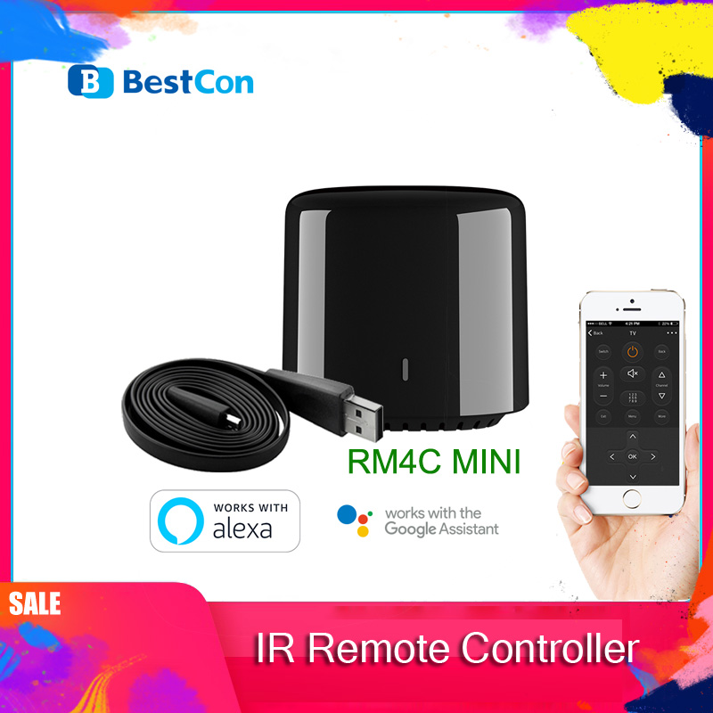 Newest Broadlink 2020 Bestcon RM4C Mini Universal  4G Wifi IR Mini Remote Control Compatible Alexa Google Assistant For  AC
