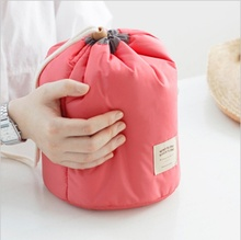 Multi-function barrel large capacity travel cosmetic bag wash storage leisure simple